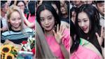 Dù chuyến bay bị hoãn gần 2 giờ, Wonder Girls vẫn liên tục mỉm cười chào fan Việt