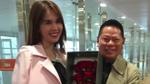 Bạn trai 72 tuổi âu yếm ôm eo, đón Ngọc Trinh tại sân bay