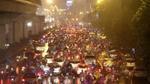 Hà Nội tắc đường nghiêm trọng do trời mưa tầm tã