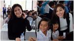 Thuỳ Dung, Diệu Ngọc giản đị đi phát quà Tết cho học trò nghèo