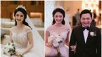 Hoa hậu Thu Ngân đẹp không tì vết bên chồng đại gia trong ngày cưới