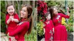 Elly Trần cùng con gái Cadie diện áo dài đôi du xuân