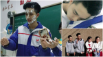 Nam sinh Trung Quốc vẫn 'siêu cấp' đẹp trai dù mặt trét đầy bánh kem!
