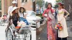Chi Pu đội nón lá, ngồi xích lô dạo phố Sài Gòn cùng Á hậu Hàn Quốc
