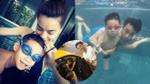 Hồ Ngọc Hà và Cường Đô la cùng xuất hiện cổ vũ con trai Subeo thi bơi