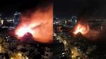 TP HCM: Đang cháy lớn ở khu vực gần giao lộ Hoàng Diệu - Nguyễn Tất Thành