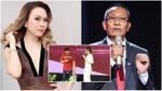Mỹ Tâm thân thiết song ca cùng MC Lại Văn Sâm trong buổi tiệc chia tay