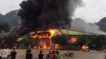 Cháy cực lớn tại chợ Tân Thanh - Lạng Sơn, huy động hơn 1.000 người cùng tham gia chữa cháy