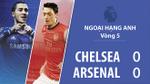 David Luiz nhận thẻ đỏ trực tiếp, Chelsea bị Arsenal cầm chân trên sân nhà