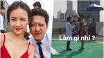 Mặc scandal bị tố say xỉn gây tai nạn giao thông, Trường Giang vui vẻ đi quay phim cùng Trương Mỹ Nhân
