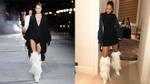 Rihanna 'cực ngầu' khi diện boots lông xa xỉ của Saint Laurent dạo phố