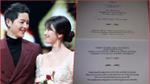 Hôn lễ cận kề, Song Joong Ki và Song Hye Kyo bất ngờ để lộ nội dung thiệp cưới