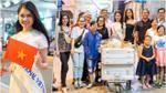 Á hậu Thùy Dung hạnh phúc bên gia đình trước giờ lên đường tham dự Miss International 2017
