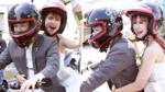 Cận cảnh lễ rước dâu bằng mô tô cực 'chất' trong đám cưới Khởi My - Kelvin Khánh
