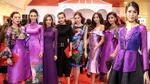 Dàn mỹ nhân The Face diện 'đồng phục' tím chúc mừng HLV Lan Khuê ra mắt phim 'Mẹ chồng'