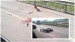 Công an truy bắt người đi xe máy vào đường cao tốc, tông CSGT nguy kịch