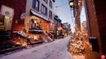 Vẻ đẹp như phim Giáng sinh của một ngôi làng ở Canada