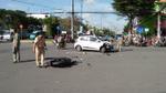 Trích xuất hình ảnh camera điều tra vụ nam thanh niên vượt đèn đỏ, lao thẳng xe vào ô tô