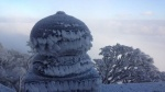 Hình ảnh xuất hiện tuyết rơi lần thứ 2 trên đỉnh Fansipan khiến nhiều người thích thú