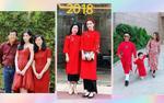 Gia đình sao Việt diện ton-sur-ton đỏ rực đi chúc Tết đầu năm