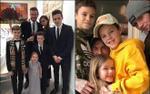 Cứ post ảnh chung được ngay triệu like: Chỉ có thể là gia đình Beckham!