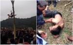Kinh hãi nam thanh niên rơi từ ngọn chuối xuống đất bất tỉnh trong lễ hội xuân