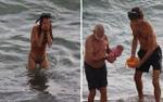 Kinh ngạc bà mẹ sinh con khi đang bơi trên biển