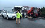 Va chạm giữa xe cứu hỏa và xe khách: Một chiến sĩ cảnh sát tử vong trên đường đi làm nhiệm vụ
