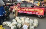 CSGT về tận ruộng thu mua, 'giải cứu' củ cải giúp người dân
