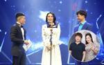Mỹ Tâm lên nhận giùm cúp Cống Hiến cho MV 'Em gái mưa' của Hương Tràm