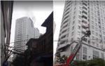 Tầng 21 chung cư Văn Khê bốc khói nghi ngút, nhiều người hốt hoảng