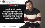 Hậu họp báo phim, nam chính Hoài Lâm gây hoang mang khi viết lời xin lỗi trên Facebook rồi xóa