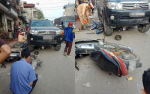 Xe Fortuner tông liên tiếp nhiều xe máy, cháu bé 7 tuổi tử vong, 2 người khác bị thương