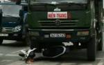Tài xế xe tải không chấp hành hiệu lệnh, đâm nát xe cảnh sát giao thông