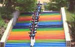 Xuất hiện 'nấc thang lên thiên đường' đầy màu sắc đang được học sinh Lâm Đồng thi nhau 'sống ảo'