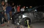 'Xe điên' tông hàng loạt xe máy trong đêm khiến 5 người bị thương nặng, 1 người tử vong