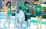 Đông Nhi, Minh Hằng té ngã, Hari Won băng chân vẫn catwalk nhiệt tình trên nước