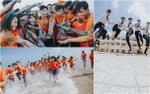 'Đỉnh cao' của nghệ thuật tạo hình kỷ yếu: Teen Đồng Nai 'quẩy banh nóc' cùng biển