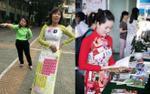 Hình ảnh cô giáo in hẳn bảng tuần hoàn Hóa học lên áo dài khiến cư dân mạng thích thú