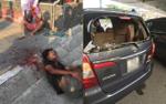 Nam thanh niên nghi 'ngáo đá' chặn đập vỡ kính xe ô tô đánh tài xế trọng thương
