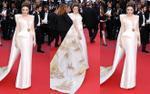 Lý Nhã Kỳ 'mang' tranh thuỷ mặc Vịnh Hạ Long 'càn quét' thảm đỏ Cannes 2018