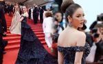Lý Nhã Kỳ diện váy khoe vai trần lưng nuột, 'càn quét' thảm đỏ Cannes ngày áp cuối