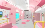 Tàu cao tốc Hello Kitty siêu cute ở Nhật Bản, nhìn là muốn đi ngay lập tức
