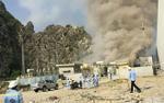 Công nhân hoảng loạn tháo chạy sau tiếng nổ lớn tại nhà máy xi măng