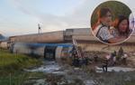 Hiện trường kinh hoàng vụ lật 8 toa tàu hỏa, 2 lái tàu tử vong mắc kẹt trong buồng lái