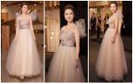 Hoa hậu Jennifer Phạm xinh đẹp tựa công chúa với thiết kế xuyên thấu khoe khéo vòng một đầy đặn
