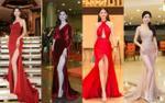 Chân dài 1m2, Á hậu Thanh Tú mặc váy xẻ đùi 'như cơm bữa' khiến fan nhiều lần thót tim