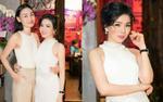 'Nữ hoàng nhạc sầu' Lệ Quyên diện cả cây trắng đến dự tiệc