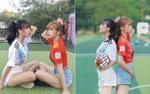 Sau thời gian 'truy link' vất vả, cuối cùng đã tìm được danh tính 2 cô gái 'thả dáng' trên sân cỏ mùa World Cup 2018