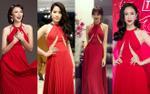 Mặc váy hở chân ngực, Hoa hậu Ngọc Diễm vô tình 'lôi kéo' Hari Won, Nam Em… vào vụ đụng hàng 'có 1-0-2'
